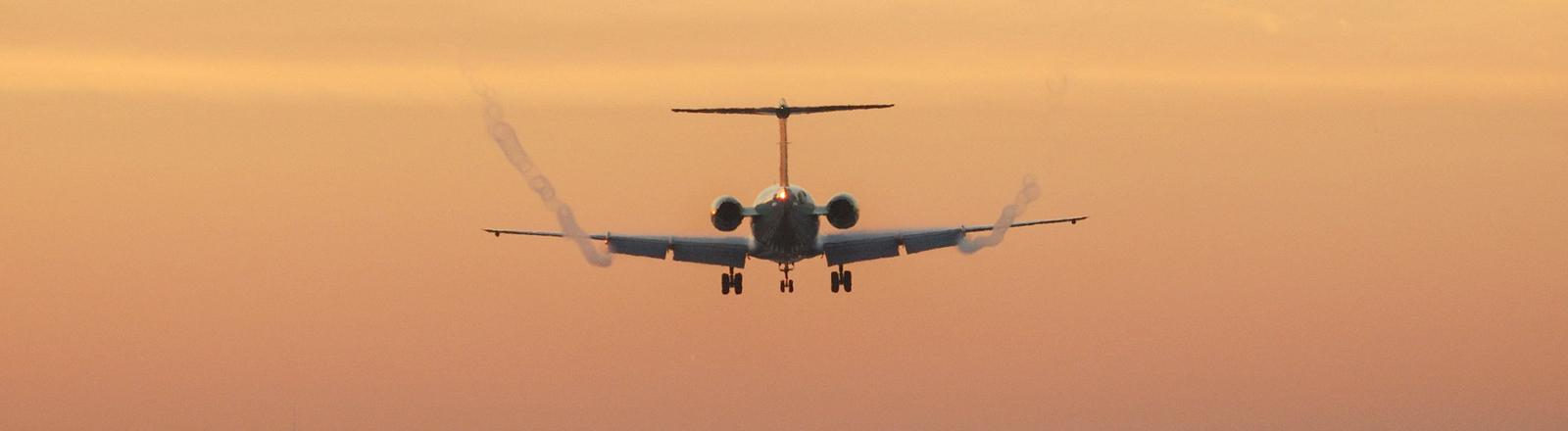 Flugzeug bei der Landung