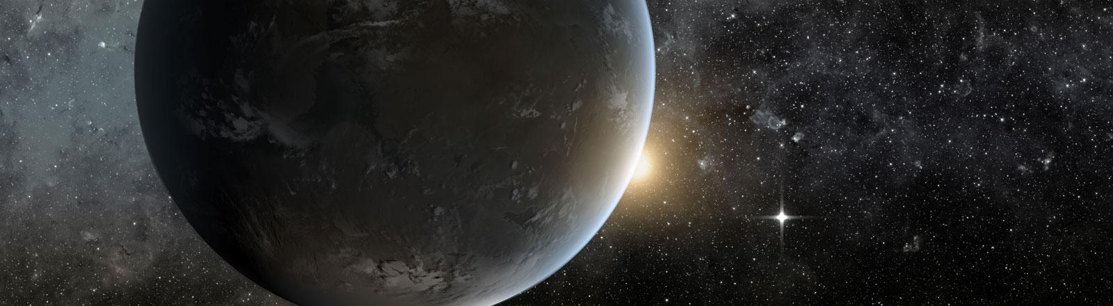 Der Planet Erde im Weltraum