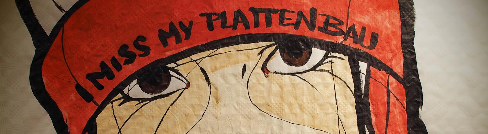 """Ein Bild des Street-Art-Künstlers """"El Bocho"""" ist  in der JR-Gallery in der Lützowstraße im Bezirk Schöneberg am 05.07.2014 zu sehen."""