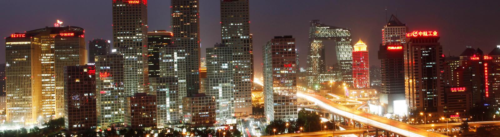 Peking bei Nacht.