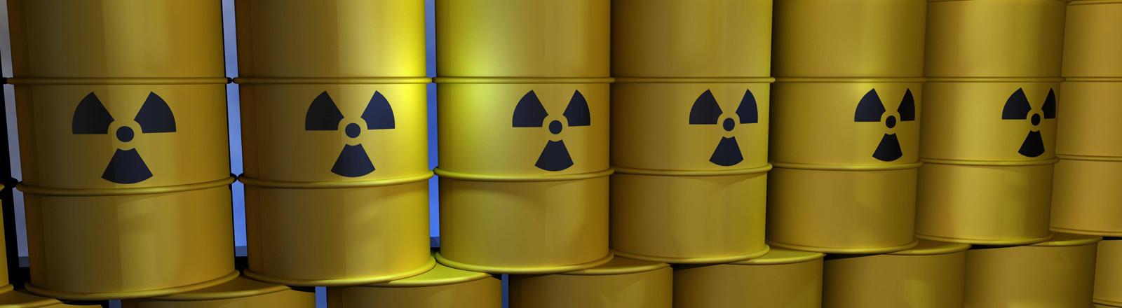 Fässer mit radioaktivem Abfall