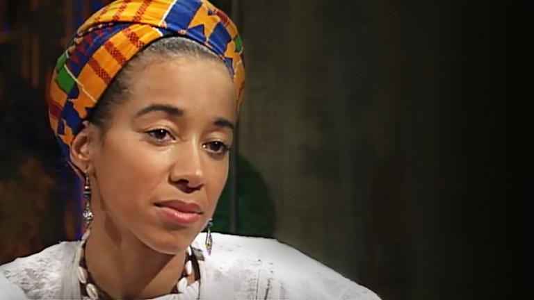 May Ayim in der WDR-Talksendung B. trifft am 19. Januar 1996