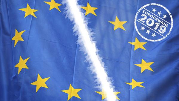 Europäische Union EU Europawahl EU-Wahl 2019 Flagge