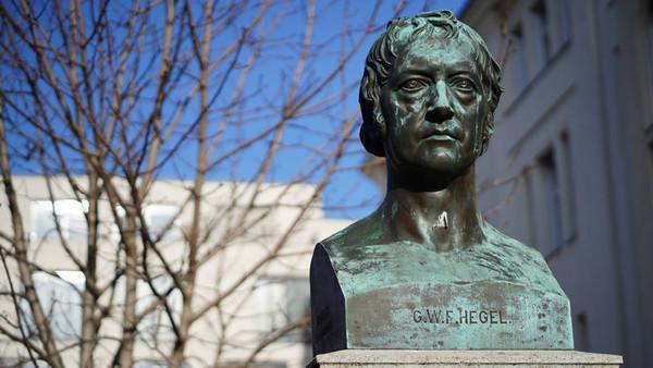 Eine Büste von G.W.F Hegel in Berlin.