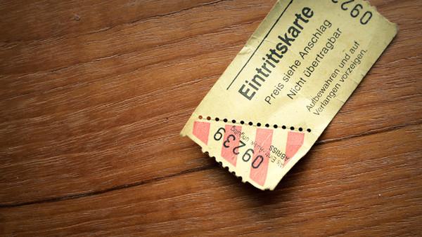 Kino-Eintrittskarte
