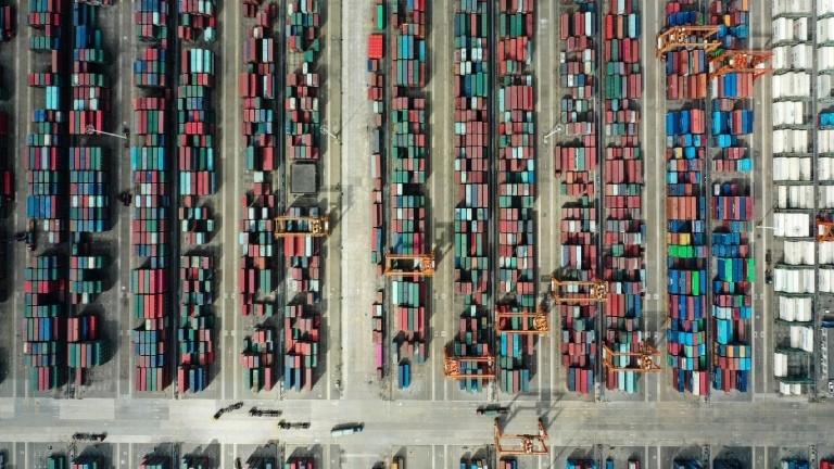Der vollautomatisierte Containerhafen im chinesischen Qinzhou