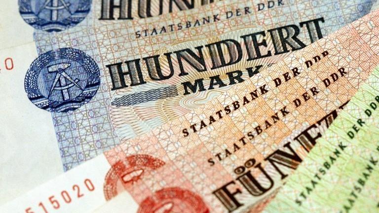 Geldscheine aus der DDR.