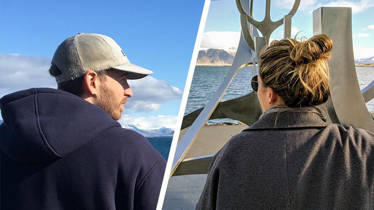 Taiina Grünzig und Andrew in Reykjavik