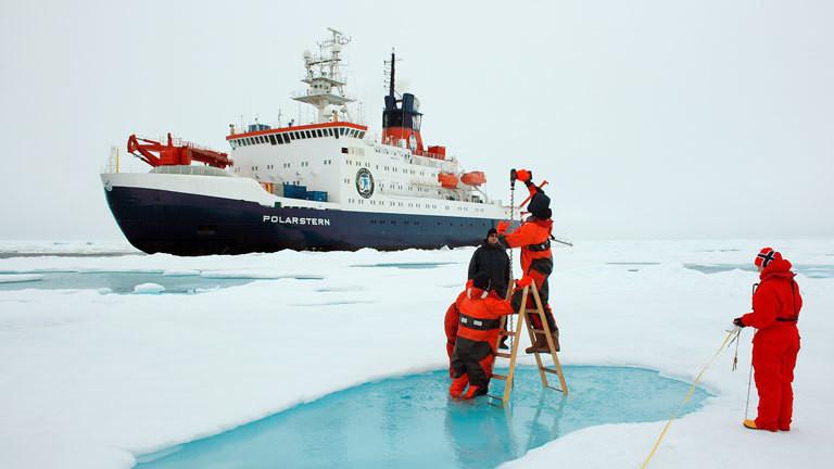 Polarstern-Expedition belegt dramatischen Meereis-Schwund im Polarmeer der Arktis.