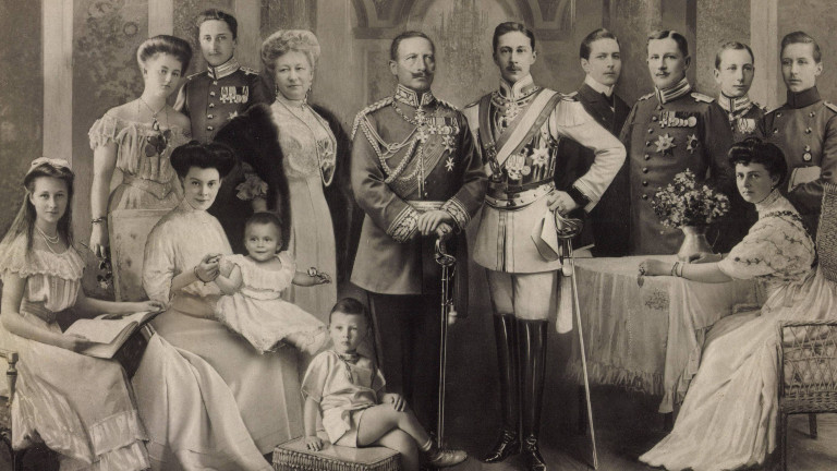 Antike Fotocollage der Kaiserfamilie um Friedrich Wilhelm II, Hause Hohenzollern