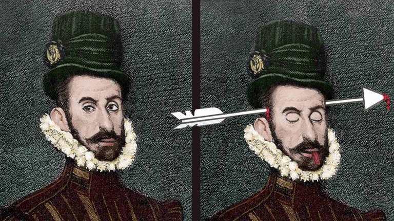 Der spanische Konquistador Hernán Cortés de Monroy y Pizarro Altamirano (Marqués del Valle de Oaxaca).