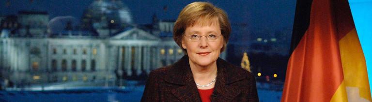 Ihre erste Neujahrsansprache: Angela Merkel am Jahresende 2005
