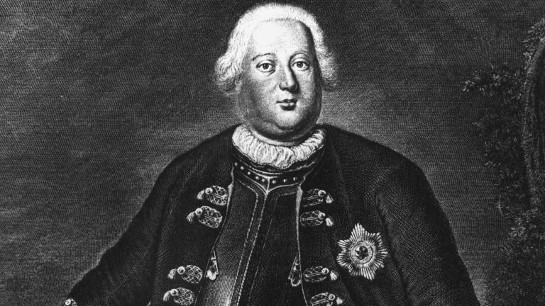 Preußenkönig Friedrich Wilhelm I., genannt der Soldatenkönig.