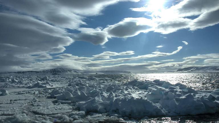Packeis bei Spitzbergen