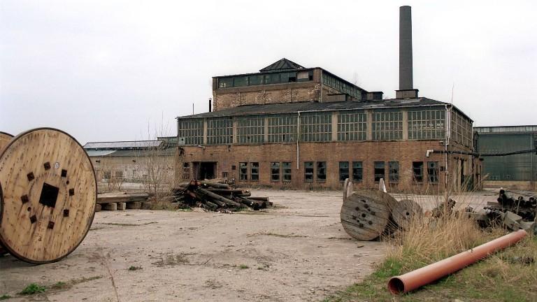 Verlassene Industrieanlage in Bitterfeld, Sachsen-Anhalt.