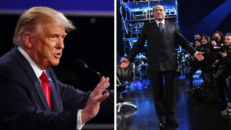 Donald Trump und Silvio Berlusconi bei TV-Auftritten