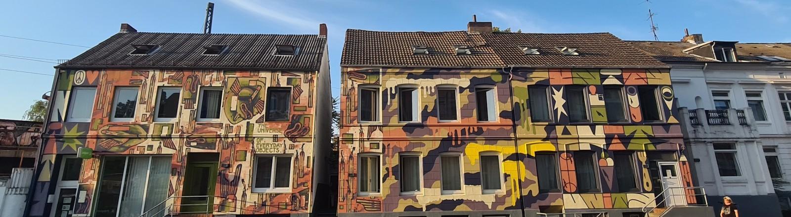 Ein Bild der Fassade des Hostels von Myléne Delattre in Hamburg