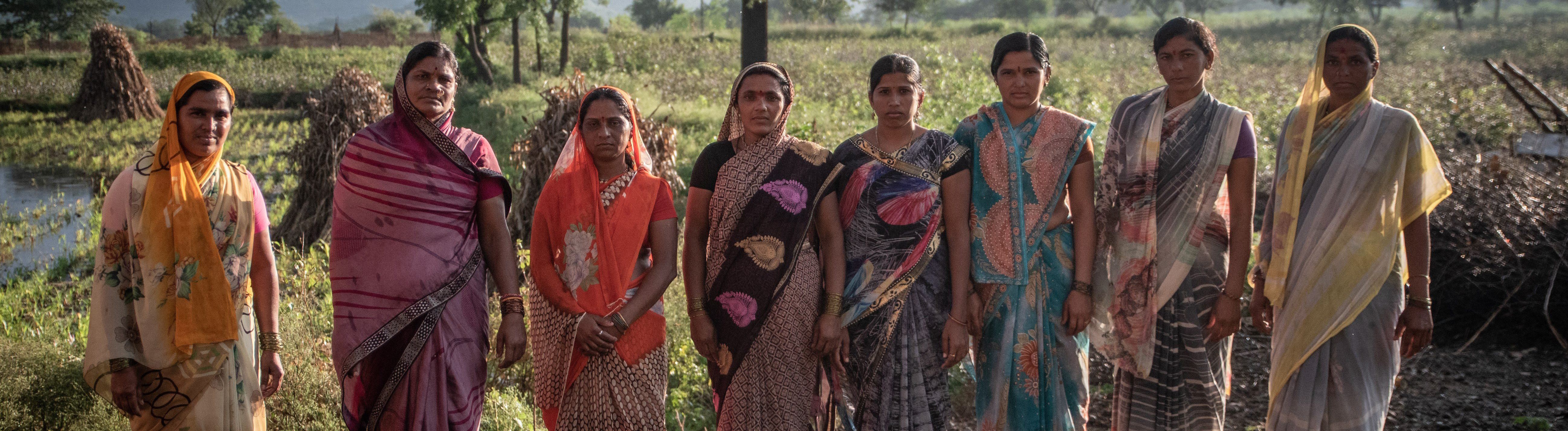 India - A group of seven women from Soni Moha village, Beed District. All of them are sugarcane cutters and underwent a hysterectomy in a hospital from the private health sector. none of them received a medical report after the surgery.