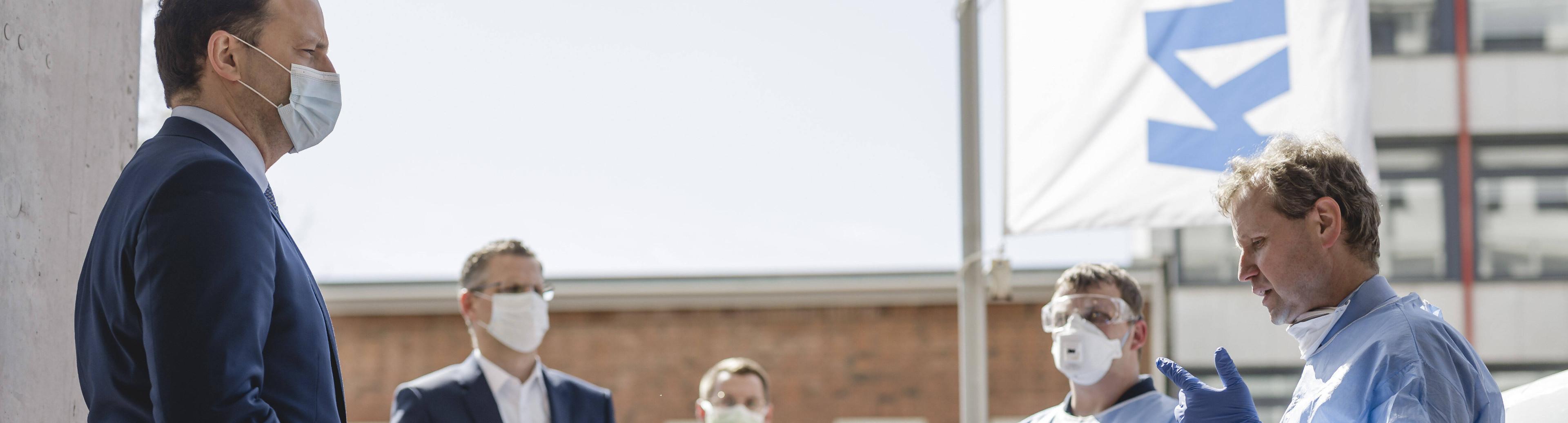 Gesundheitsminister Jens Spahn zu Besuch bei der kassenärztlichen Vereinigung am 18.4.2020