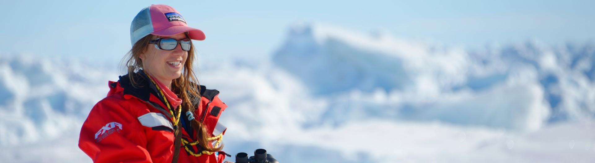 Laura Schmidt in der Arktis.