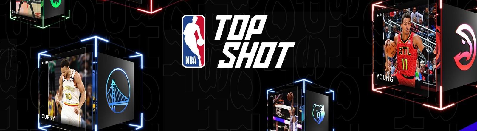 Eine Auswahl an digitalen Sammelbildern von NBA Top Shot