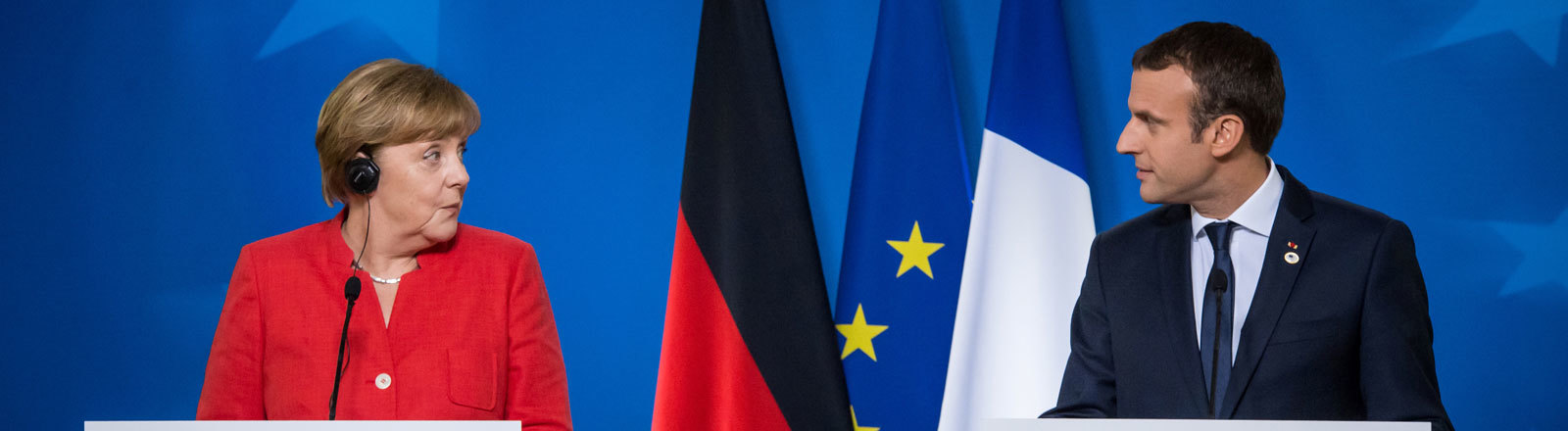 Merkel und Macron auf dem EU-Gipfel