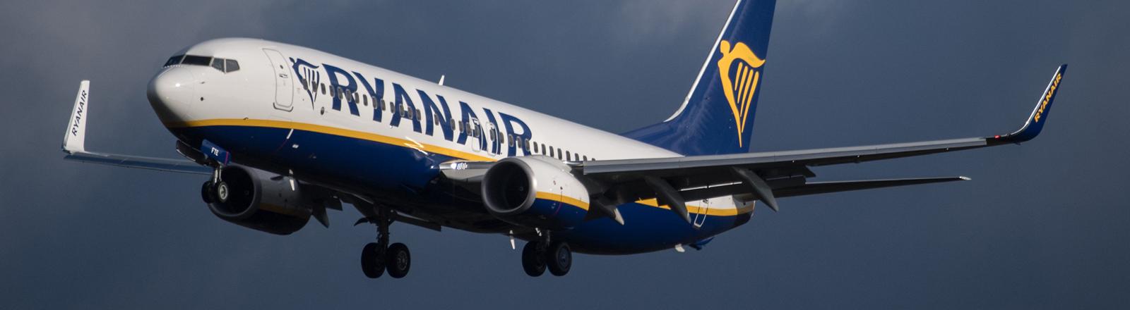 Ryanair-Flieger in der Luft (Symbolbild)