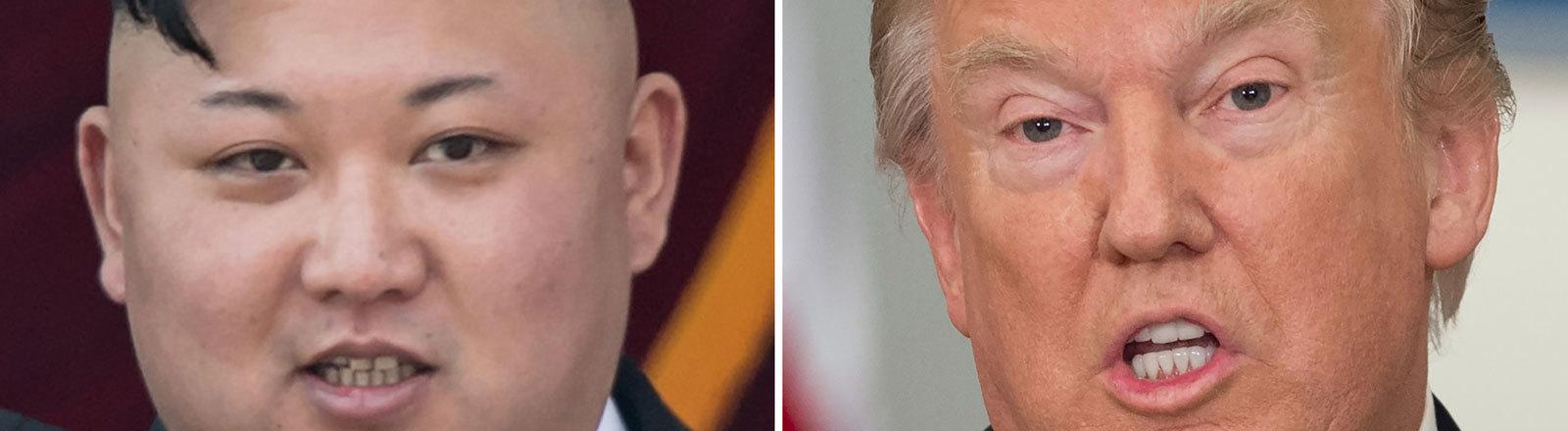 Nordkoreas Präsident Kim Jong-Un und US-Präsident Donald Trump.