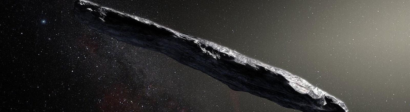 Illustration: Zum ersten Mal haben Astronomen den Durchflug eines Asteroiden aus einem anderen Sonnensystem beobachtet.