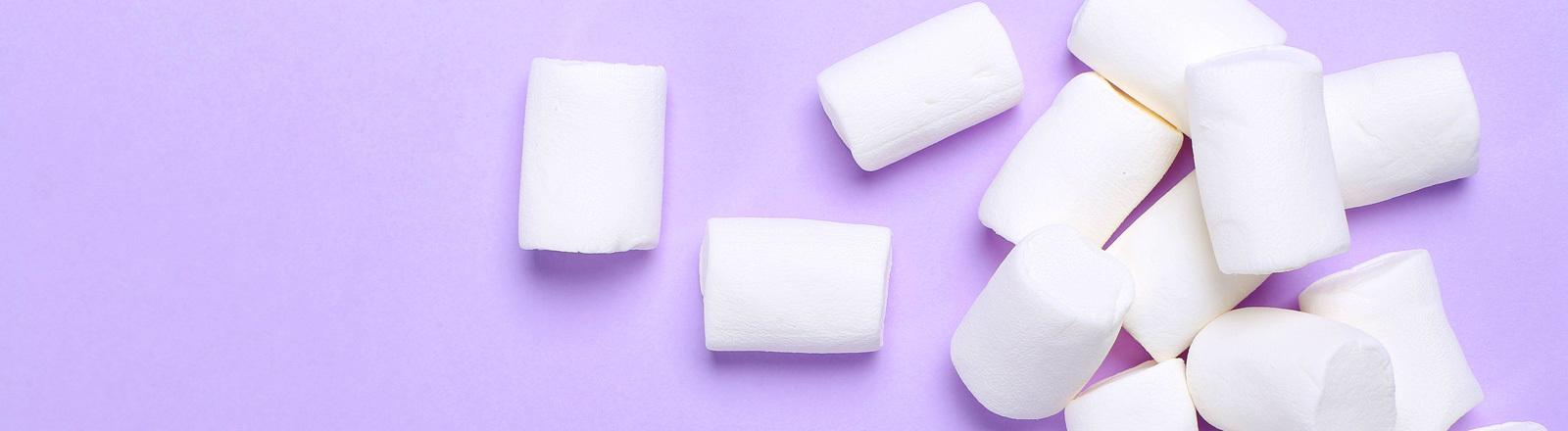 Ein kleiner Haufen Marshmallows