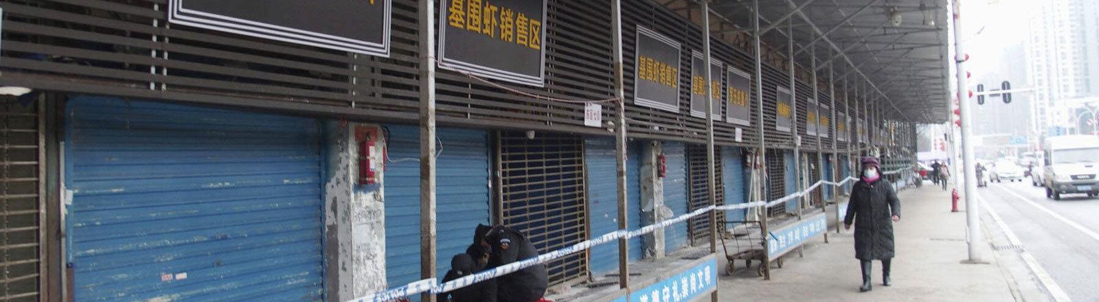 Stadt Wuhan in China nach Corona-Virus