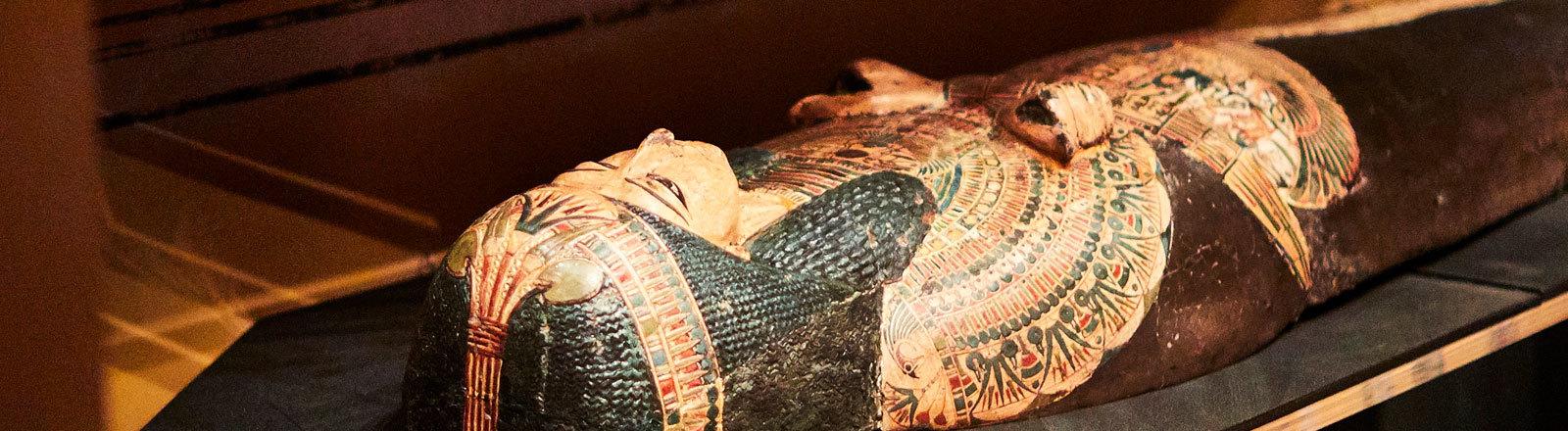 Foto einer Mumie im Leeds City Museum