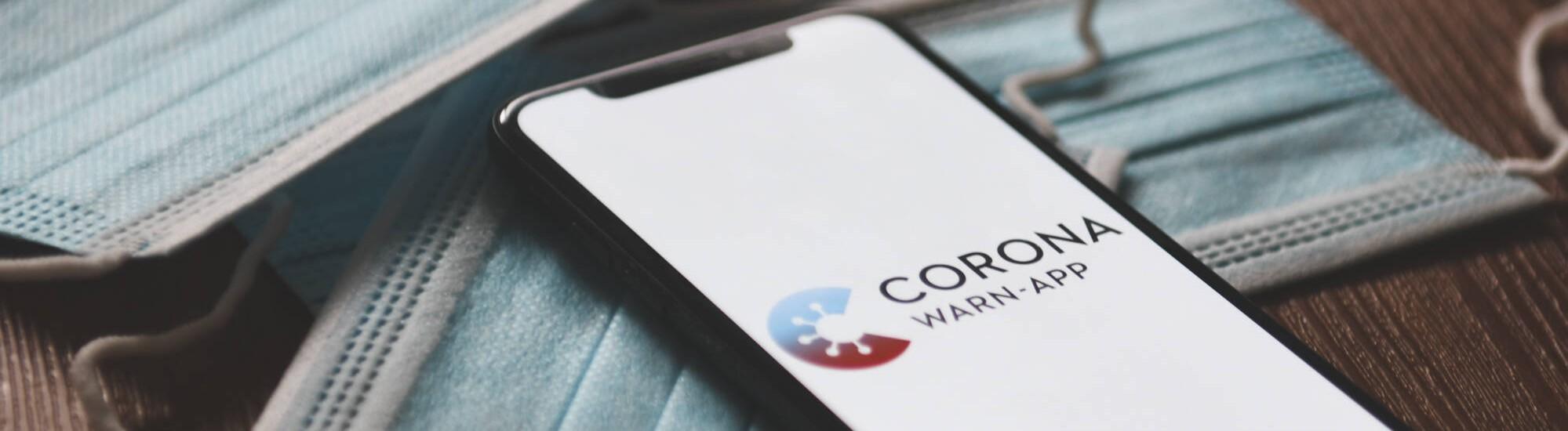 Die Corona-Warn-App auf einem Smartphone.