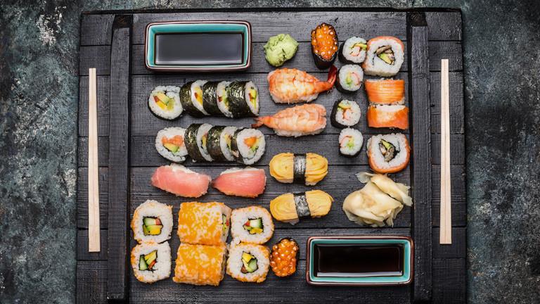 Erst mal Sushi essen!