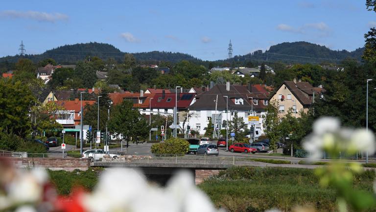 Einige Häuser der Stadt Gaggenau in Baden-Württemberg.