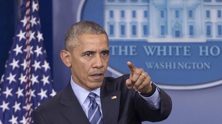 US-Präsident Barack Obama bei seiner letzten Pressekonferenz zum Jahresende