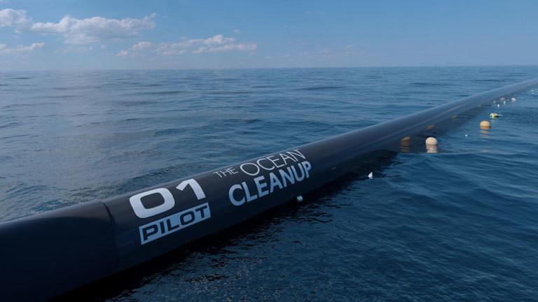 Die Saugertechnik von 'The Ocean Cleanup': Das Projekt Ocean Cleanup will im nächsten Jahr mit der Säuberung des Pazifiks vom Plastikmüll starten.