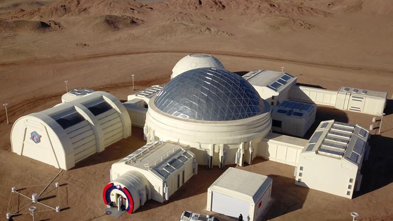 Mars-Basis in der Wüste
