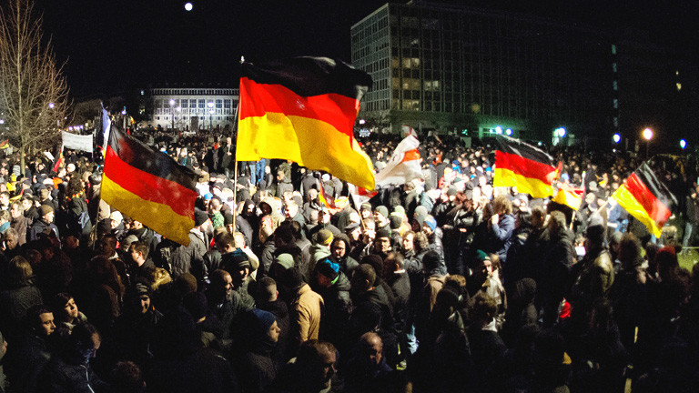 Pegida-Demo in Dresden am 12.01.15