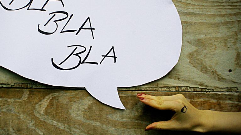 "Sprechblase ""Bla Bla Bla"""