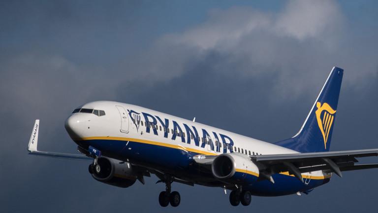 Ryanair-Flieger in der Luft