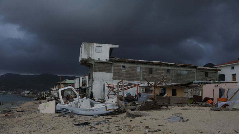 destructions dans le quartier de Sandy Ground sur l'île de Saint-Martin après le passage de l'ouragan Irma le 10 septembre 2017 photo LP/Yann Foreix - Hurricane Irma in St Martin island