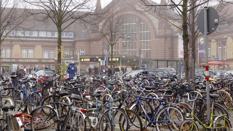 Fahrradparkplatz am Osnabrücker Hauptbahnhof