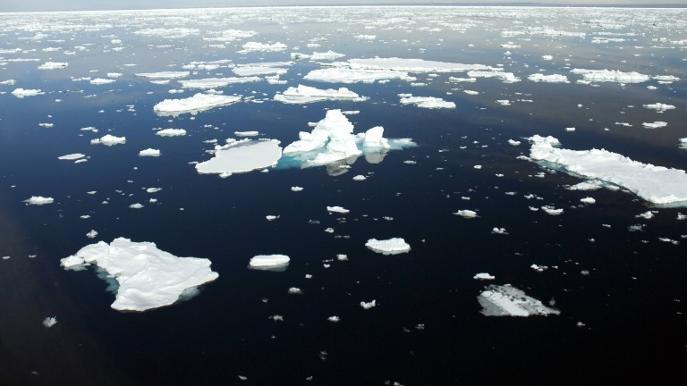Eisschollen im Nordpolarmeer, Norwegen, Spitzbergen