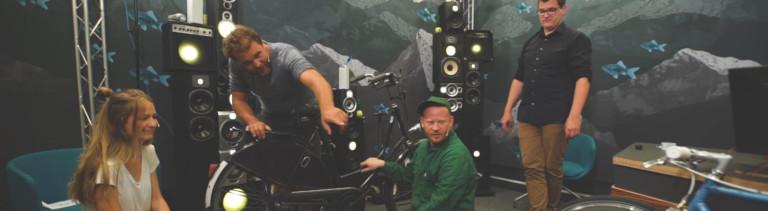 Anna Kohn, Paulus Müller, Moritz Metz und Klaas Reese im Dlf Nova Studio
