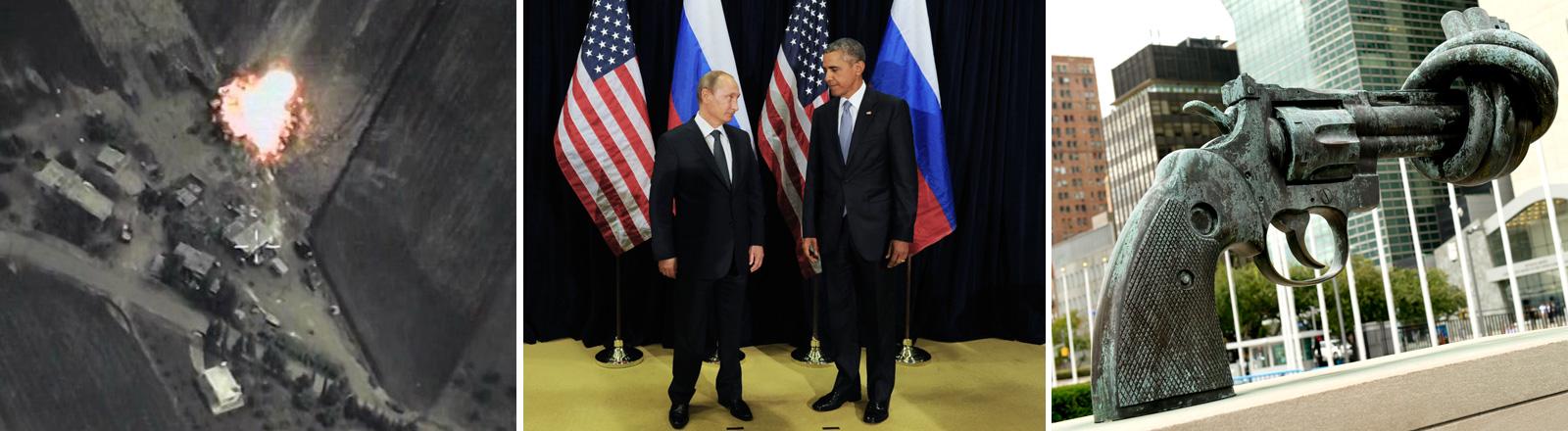 Die Optionen im Syrienkrieg: Reden, Bomben oder nichts tun.