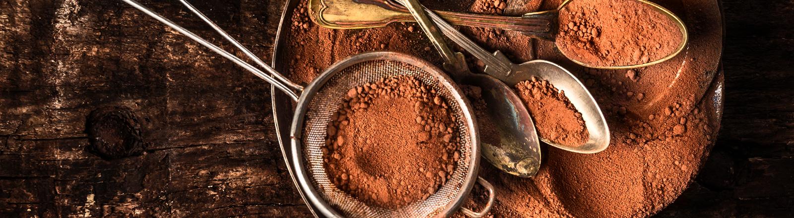 Kakao-Pulver in einer Schale.
