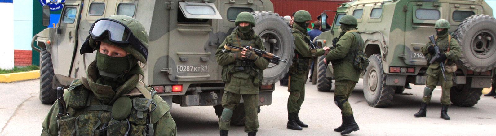 Die Soldaten in der Ukraine bereiten sich auf die Eskalation des Konflikts vor.