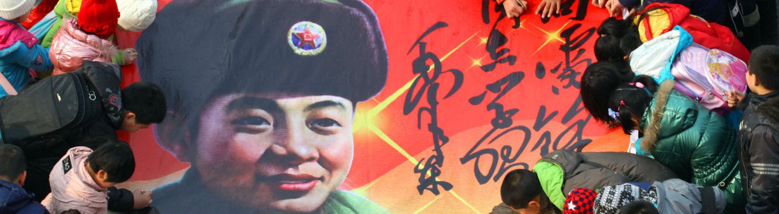 Lei Feng - von der Kommunistischen Partei Chinas zum Helden erhoben.