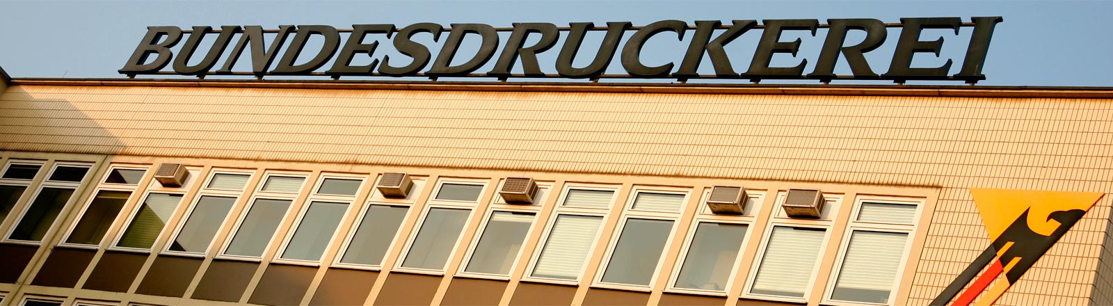 Das Gebäude der Bundesdruckerei in Berlin-Kreuzberg.